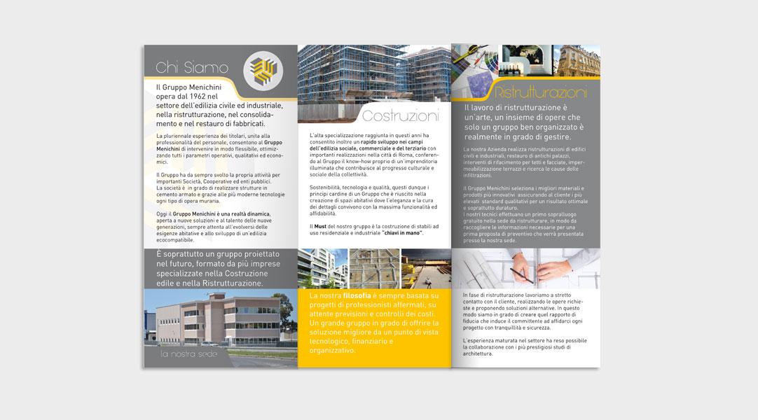 Realizzazione Brochure Gruppo Menichini