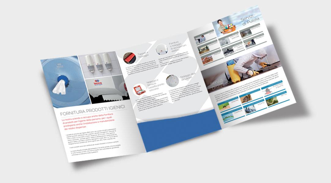 Creazione Brochure Cartellina Tecna
