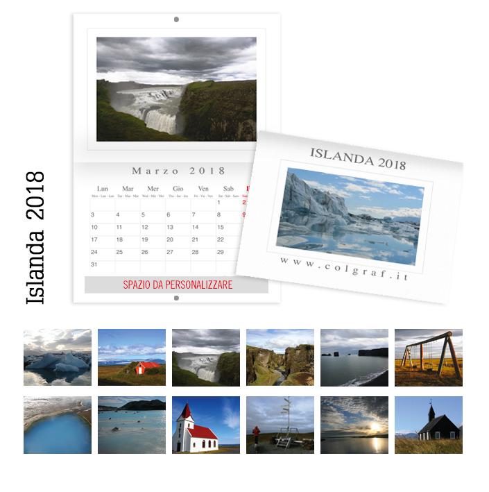 calendari da muro Islanda