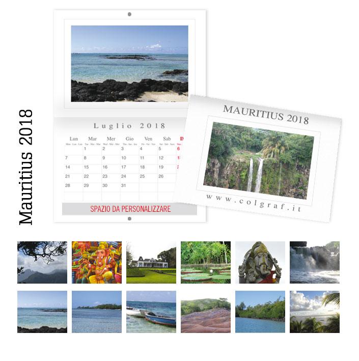 calendari da muro Mauritius