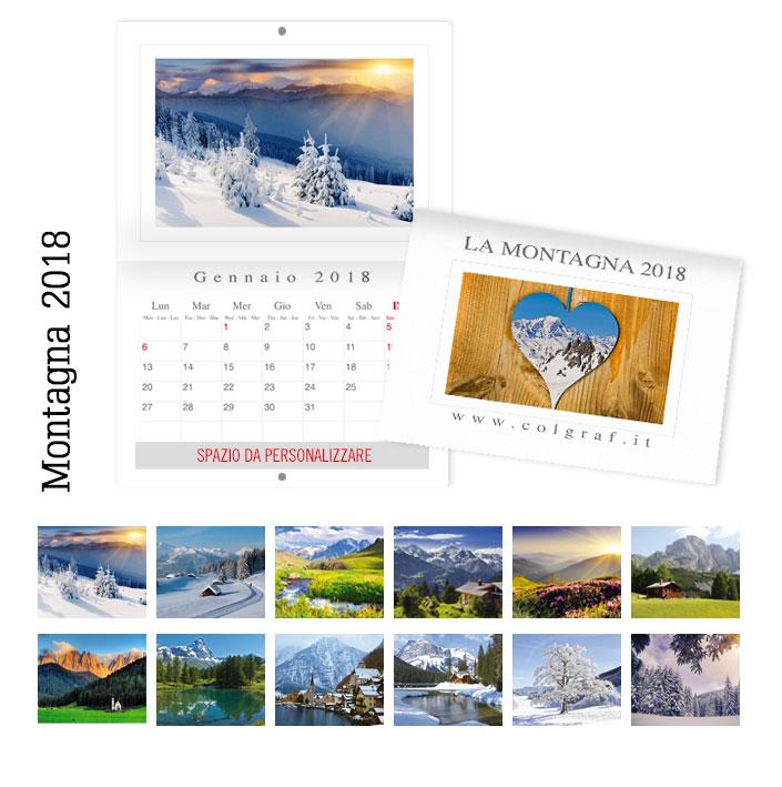 calendari da muro Montagna