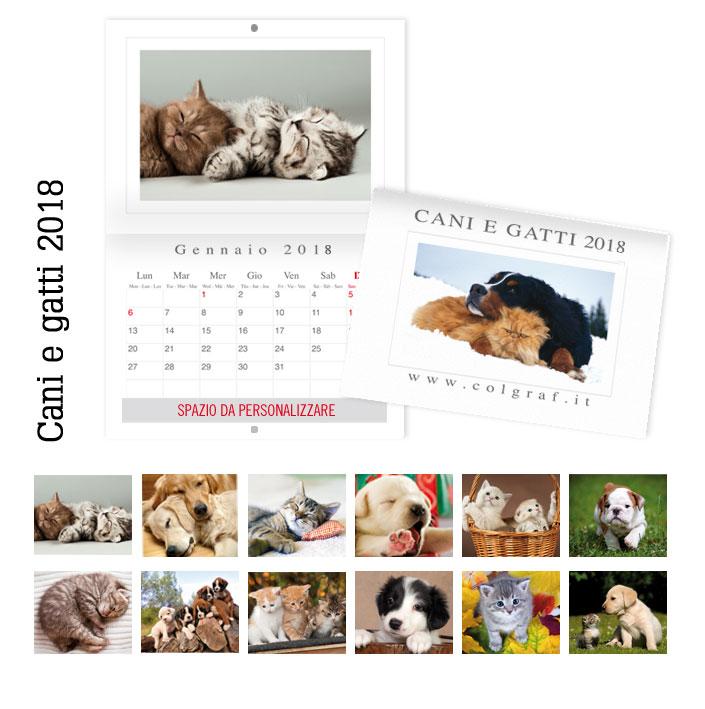 calendari da muro cani e gatti