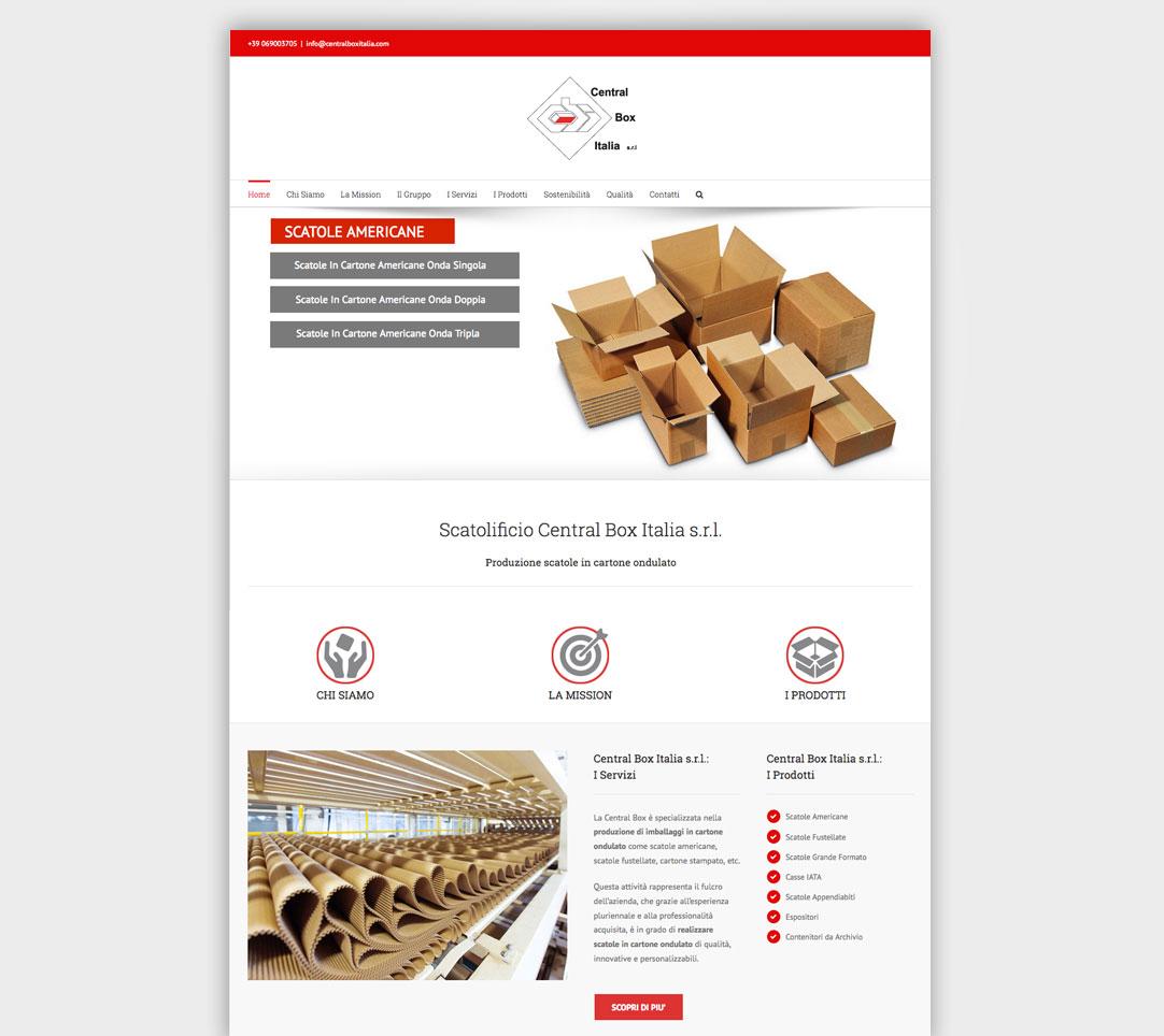 creazione sito web central box